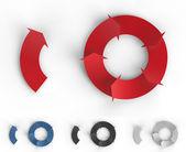 Infographic arrows — Stock Photo