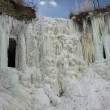 Stock Photo: Minnehahfalls frozen, Minneapolis, Minnesota