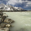 Glacier river in Mount Cook National Park   — Stock Photo