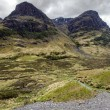 Glencoe Mountains on a stormy day, Scotland   — Stock Photo