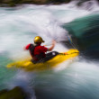 Whitewater kayaking — Stock Photo