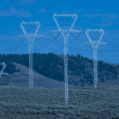 Royalty-Free Stock Photo: High energy powerlines