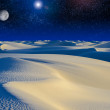Moonrise over sand dunes. — Stock Photo
