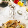Shrimp and clam seafood appetizer. — Stock Photo