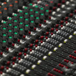 Closeup of a concert sound control board. — Stock Photo