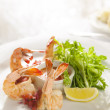 Fancy shrimp cocktail appetizer. — Stock Photo