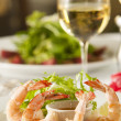 Shrimp cocktail appetizer. — Stock Photo