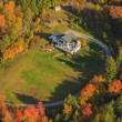 Aerial view of a private residence in Vermont, USA — Stock Photo
