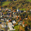 Aerial view of rural Vermont town. — Stock Photo
