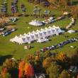Aerial view of event tent in Vermont. — Stock Photo