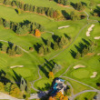 Stock Photo: Aerial image of a golf course.