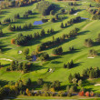 Aerial image of a golf course. — Stock Photo