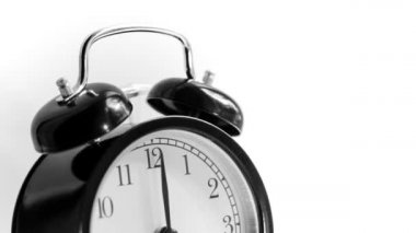 Alarm clock, black — Stock Video