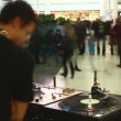 DJ at the mall. Timelapse. — Stock Video