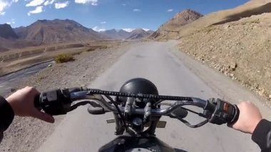 Moto travel Himalaya mountains India — Stock Video