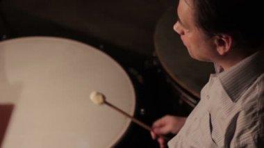 Timpani instrument — Stock Video