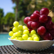 Stock Photo: Berrys by swimmimg pool
