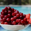 Berrys by the swimmimg pool — Stock Photo