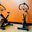 Bike in gym — Stock Photo