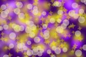 紫色手机上的白色散景 — 图库照片