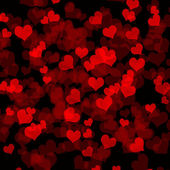Dark background with hearts — Stock Photo