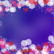 Background with frame from hearts and bokeh — Stock Photo #31379433
