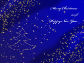 Christmas Background with stars — Foto Stock