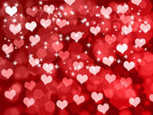 Valentine's background with hearts — Stock Photo