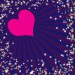 Valentine's background with rays — Stock Photo #32510747