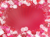 Valentine's background with rays — Stockfoto