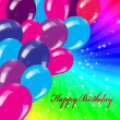 Holiday's background with balloons — Stock Photo