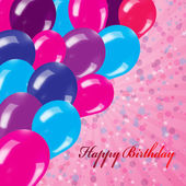 Holiday's background with balloons — Foto Stock