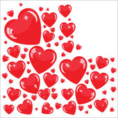 Valentine's background with red hearts — Stock Photo
