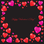 Valentine's background with many hearts — Stock Photo