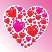 Fondo de san valentín con muchos corazones — Foto de Stock