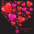 Valentine's background with many hearts — Stockfoto