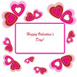 Valentine's background with ornament — Stok fotoğraf