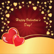 Valentine's background with many hearts with stars — Stock Photo