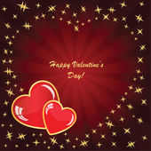 Valentine's background with two hearts — Stock Photo