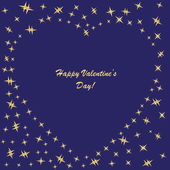 Valentine's background with hearts and stars — Foto Stock