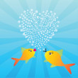 Two fishes in love — Stock Photo