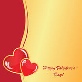 Valentine's background with two hearts — Stock Vector
