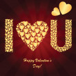 Valentine's background with golden hearts — Stock Photo #36957139