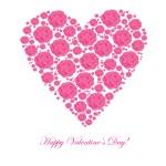 Valentine's background with floral heart — Stok fotoğraf
