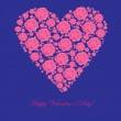 Valentine's background with floral heart — Foto de Stock