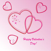 Valentine's background with hearts and stars — Stock Photo