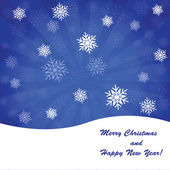 青いクリスマス背景 — ストック写真