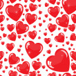 Stock Photo: Seamless hearts background