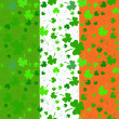 Vertical Seamless clover pattern on Patrick's Day — Stock Photo