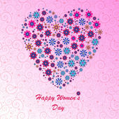Happy Women's Day background — Stock Photo